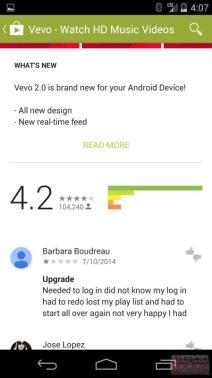 Google Play Store im Material Design