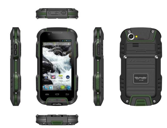 simvalley MOBILE Outdoor-Smartphone SPT-900, IP67, Android 4.2, 4