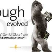 Gorilla Glass 4 hält auch ein Sturz nicht auf