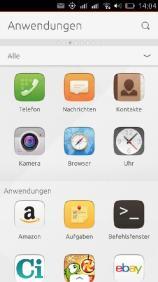 Scope mit den installierten Apps