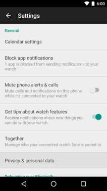 Android Wear Update
