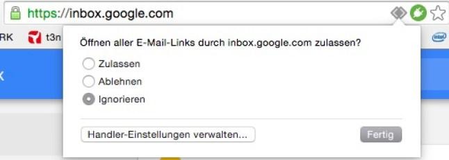 Mail-Handler in Chrome