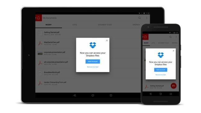 Adobe Reader und Dropbox im Cloud-Office