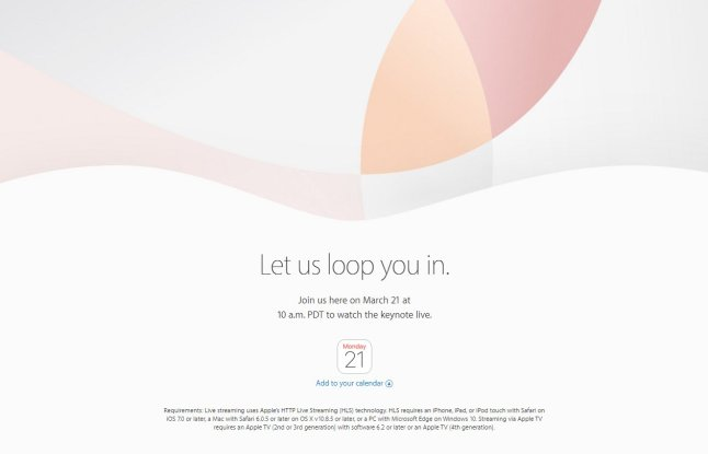 Apple Event März 2016
