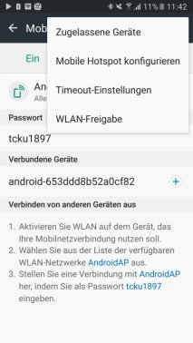 Samsung Galaxy S7 WLAN-Repeater