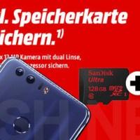 Honor 8 schon um 50 Euro reduziert plus 128 GB microSD-Card