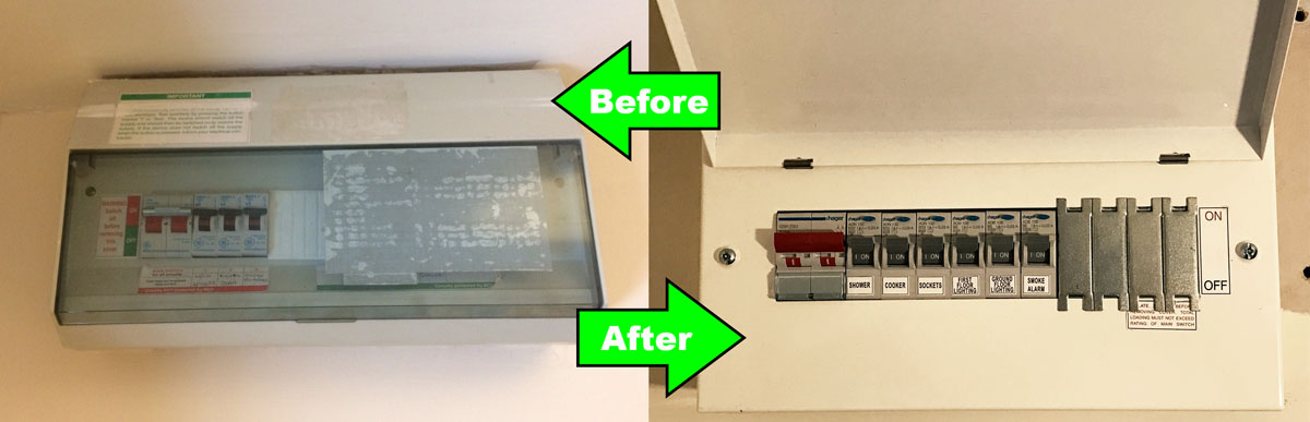 Fuse Box Upgrade - Chester Electricians Cheshire Electricians