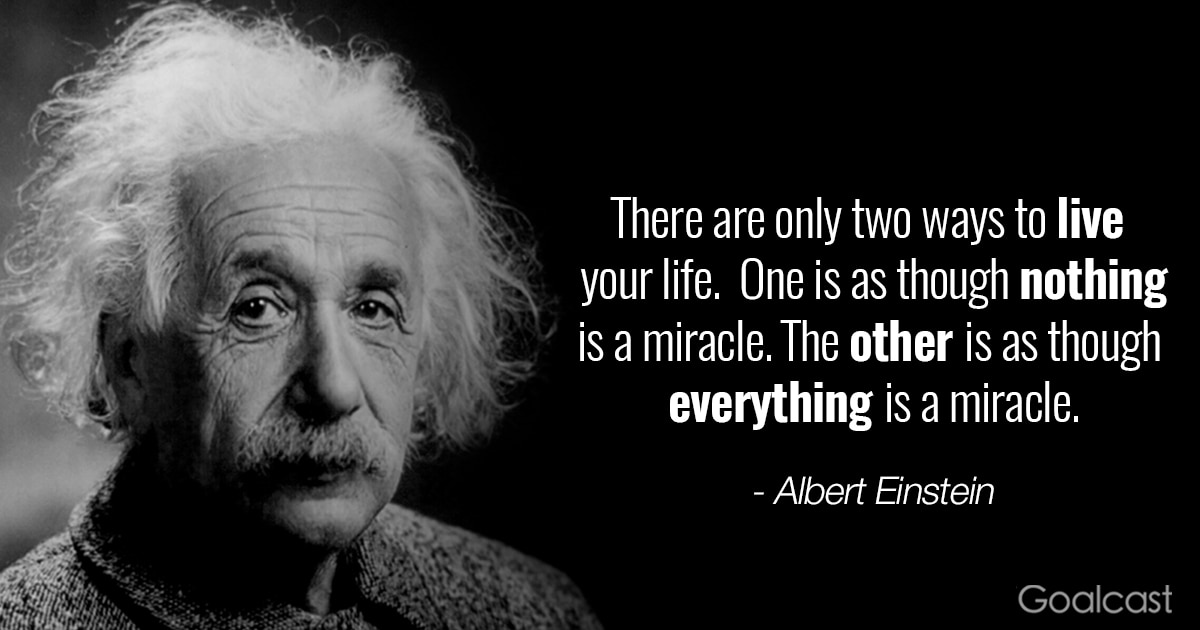 Steve Jobs Motivational Quotes Wallpaper Albert Einstein Quotes Miracle Goalcast