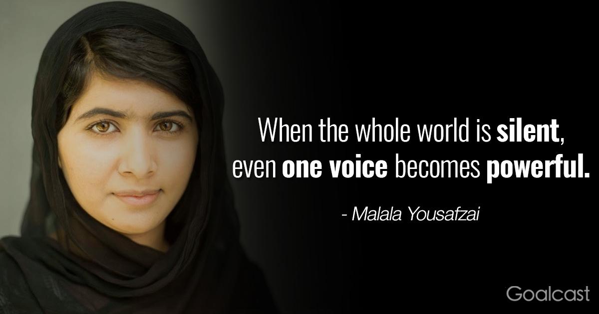 Denzel Washington Quote Wallpaper Top 12 Most Inspiring Malala Yousafzai Quotes Goalcast