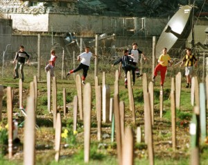 Stadium tunred to cemetary after Bosnia War
