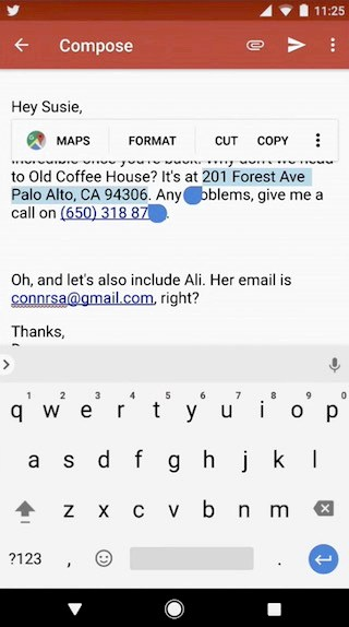 Google Docs new update introduces Smart Text Selection in Android O