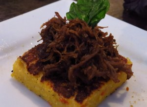 Short rib polenta patty