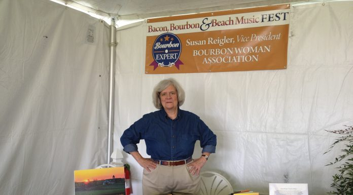 "Reigler at the Smithfield, Virginia ""Bourbon, Bacon & Beach Music Festival."" Courtesy Susan Reigler"