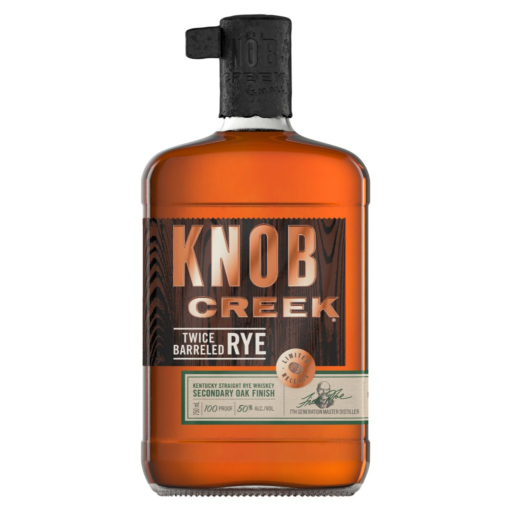 Knob Creek Twice Barreled Rye.