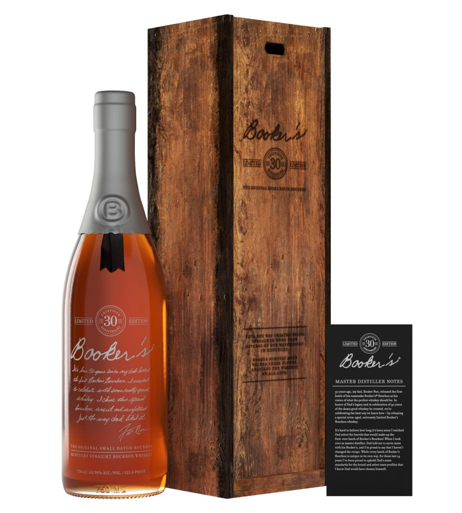 Booker's 30th Anniversary Bourbon bottle.