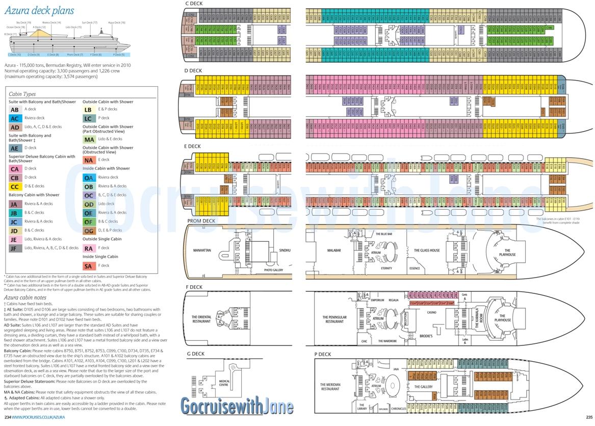Po Cruises 2012 2013 Deck Plans