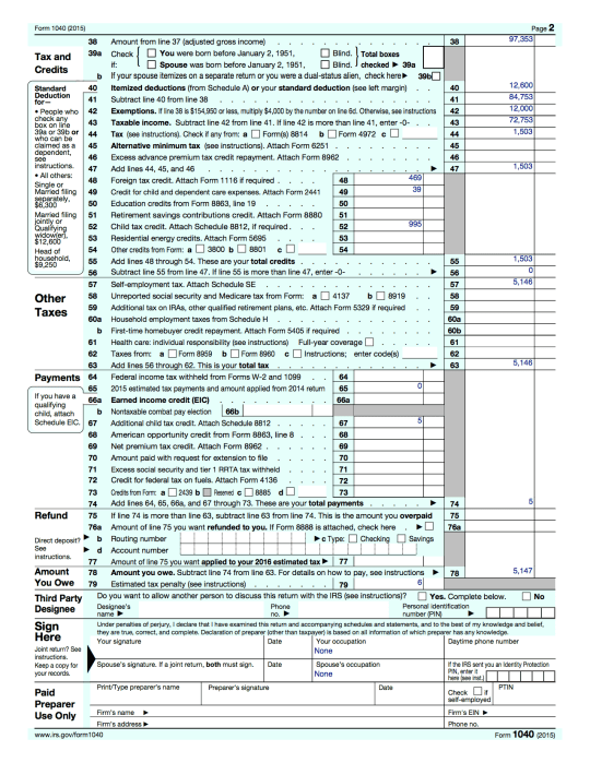 Fillable Qualified Dividends Worksheet – Printable Editable Blank