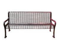 Roll Formed Wire Bench | Metal Benches | Site Furnishings