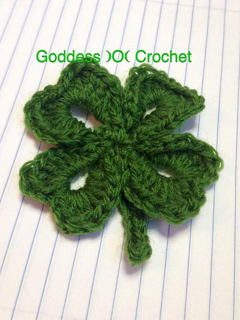 Free Crochet Pattern For 3 Leaf Clover : Four Leaf Clover Shamrock ? Free Pattern from B.hooked ...