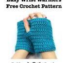 Easy Wrist Warmers Fingerless Gloves - Free Crochet Pattern