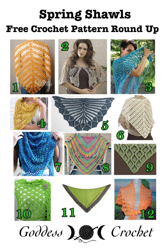 Free Crochet Shawl Patterns For Spring : Spring Shawls ? Free Crochet Pattern Round Up ? Goddess ...