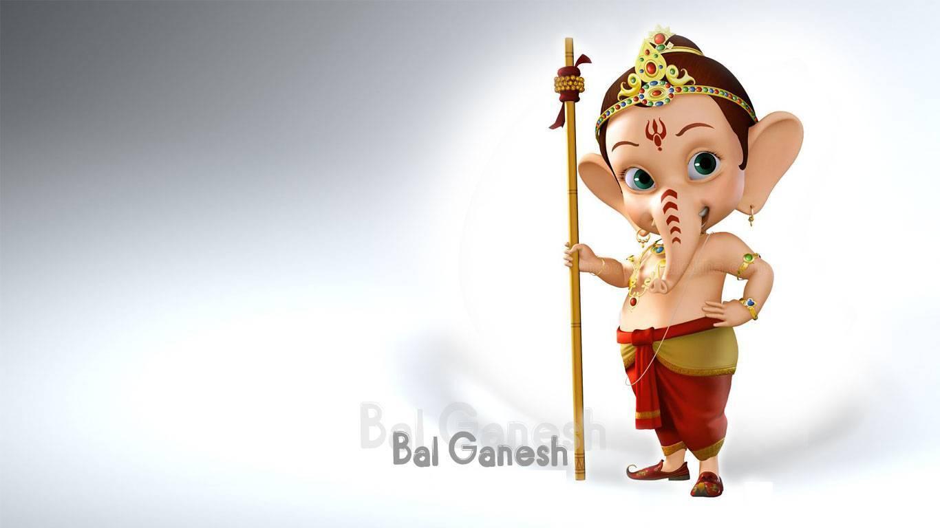 Cute Wallpapers Of Ganapati Little Bal Ganesh 3d Hd Wallpaper 1366 215 768 Hindu Gods
