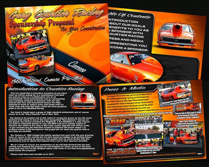 wwwgodragracingorg picts gary-courtier-camaro-pro-mod - free racing sponsorship proposal template