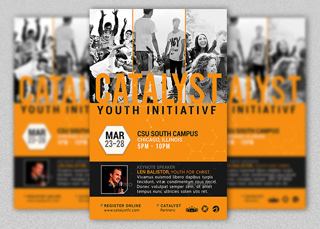 Catalyst Youth Summit Flyer Template Godserv Market