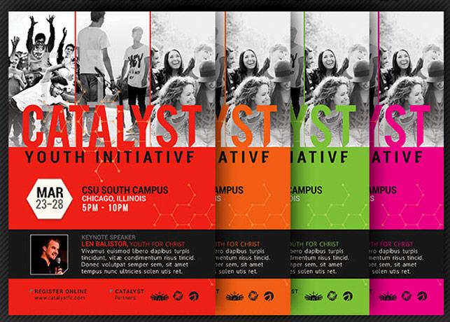 Catalyst Youth Summit Flyer Template Godserv Market - flyer template