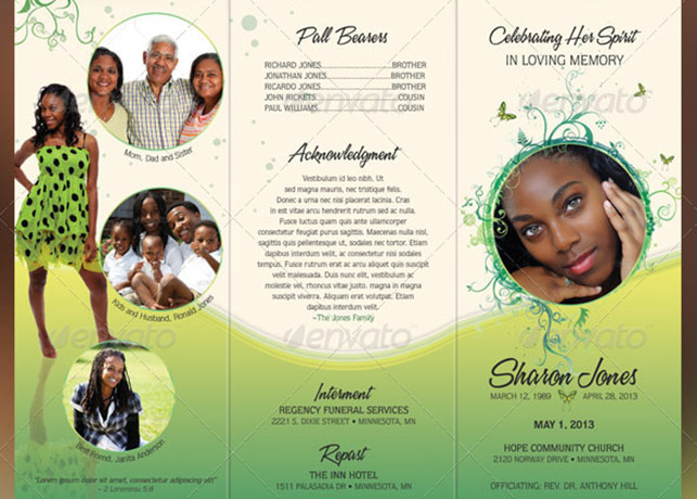 free tri fold funeral program template - Funfpandroid - program for a funeral