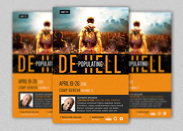 Youth Camp Church Flyer and Poster Template Godserv Market