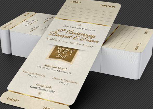 Anniversary Banquet Ticket and Jacket Template Godserv - banquet ticket template