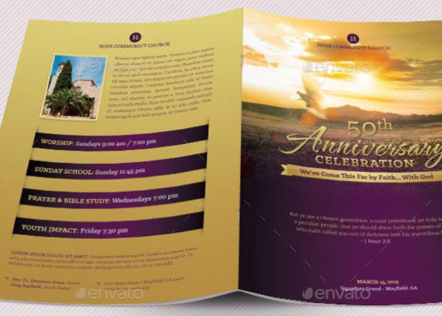 Church Anniversary Program Large Godserv Market - church program