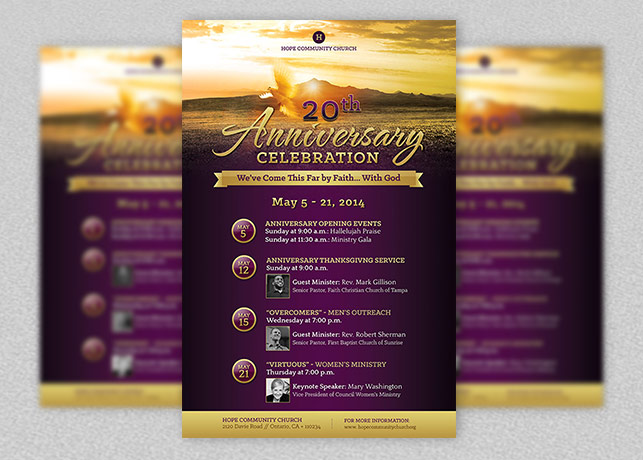 Church Anniversary Flyer and Poster Template Godserv - funeral poster templates