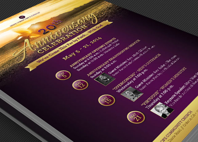 Church Anniversary Flyer and Poster Template Godserv