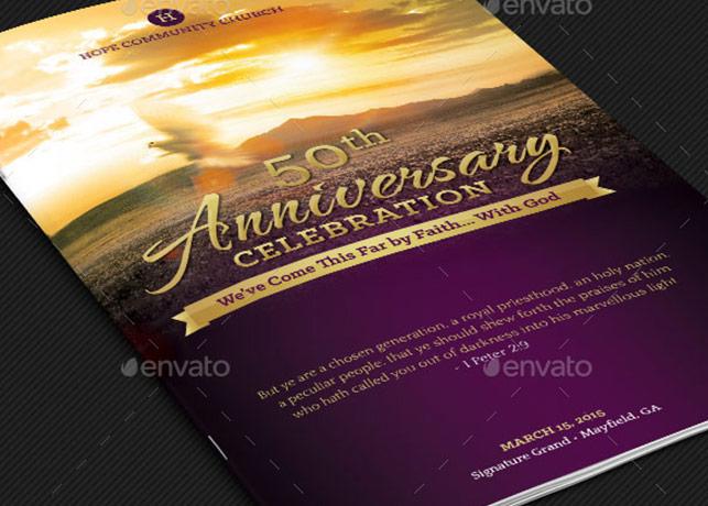 Church Anniversary Service Program Template Godserv