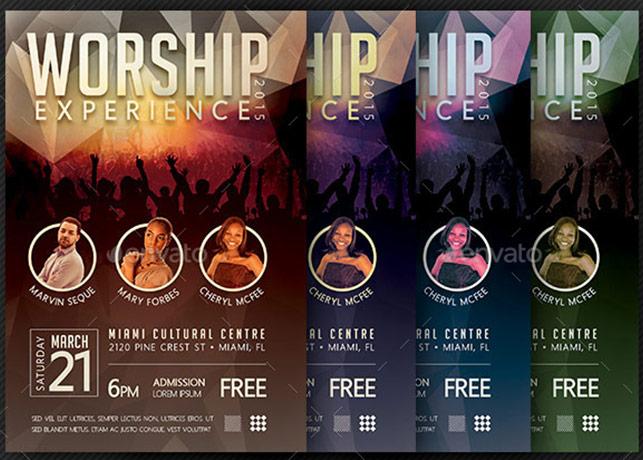 Worship Concert Flyer Template Godserv Market
