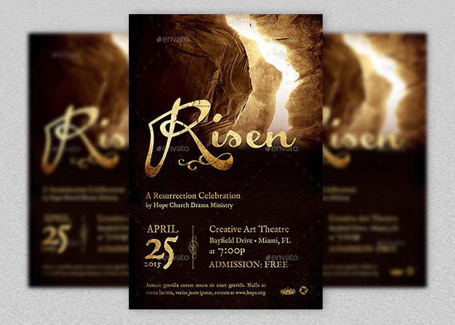 Risen Church Flyer and Poster Template Godserv Market