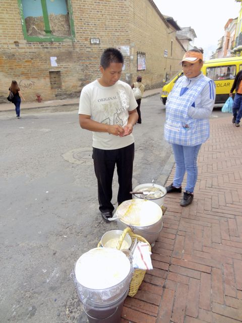 street vendors sell soup in Quito