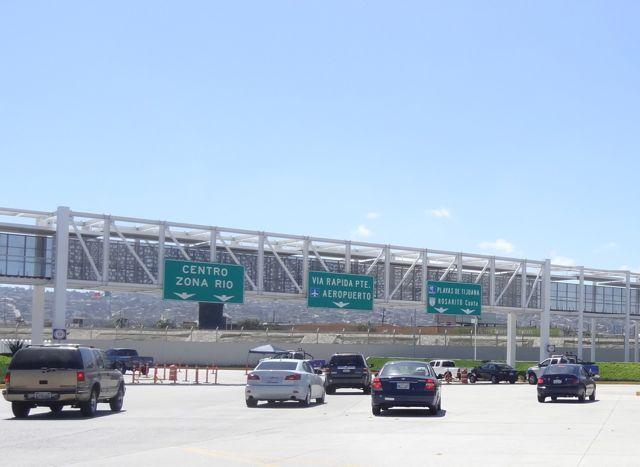 crossing US border into Mexico