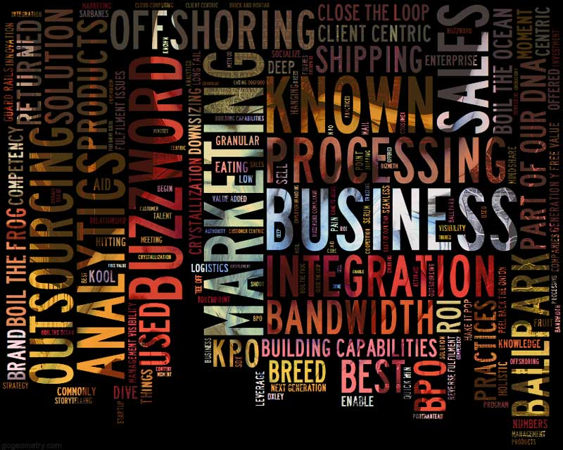 Word cloud of Business, sales and marketing Buzzwords - sales word