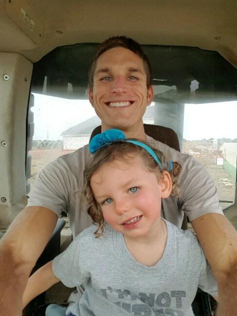 Bulldozer selfie with Daddy