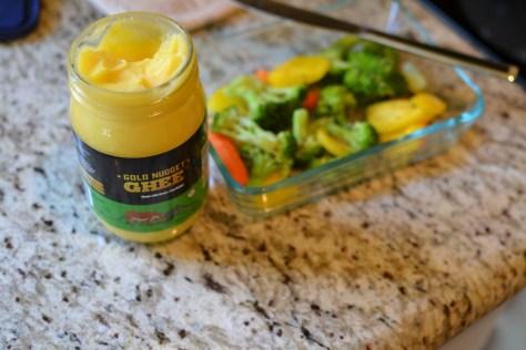 ghee, healthy cooking, coffee, vegetables