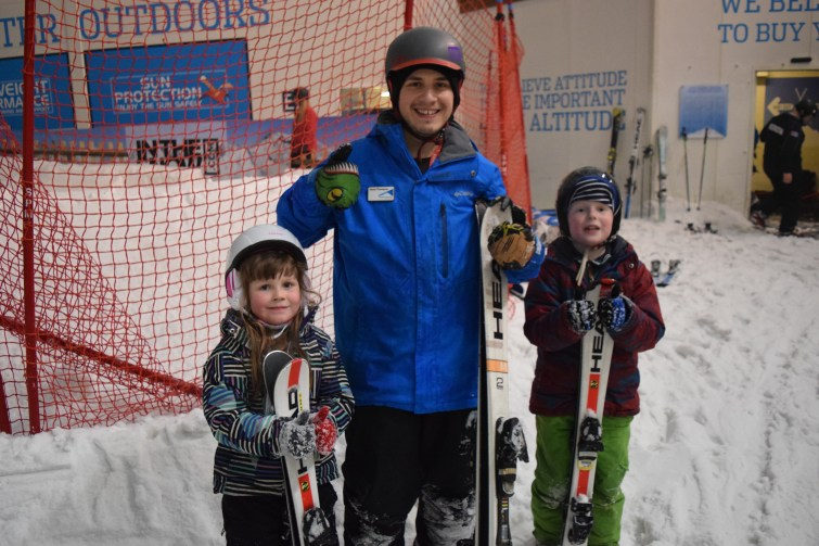The Snow Centre - ski instructor with Ben and Chloe