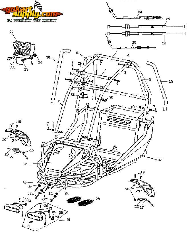 American Sportworks 7150 Go Kart Parts 7150 Quantum 7150 Carbide