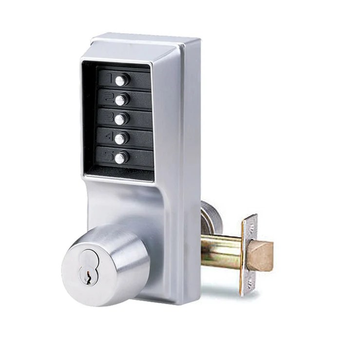 Simplex 1021R Pushbutton Door Lock with Sargent Core GoKeyless