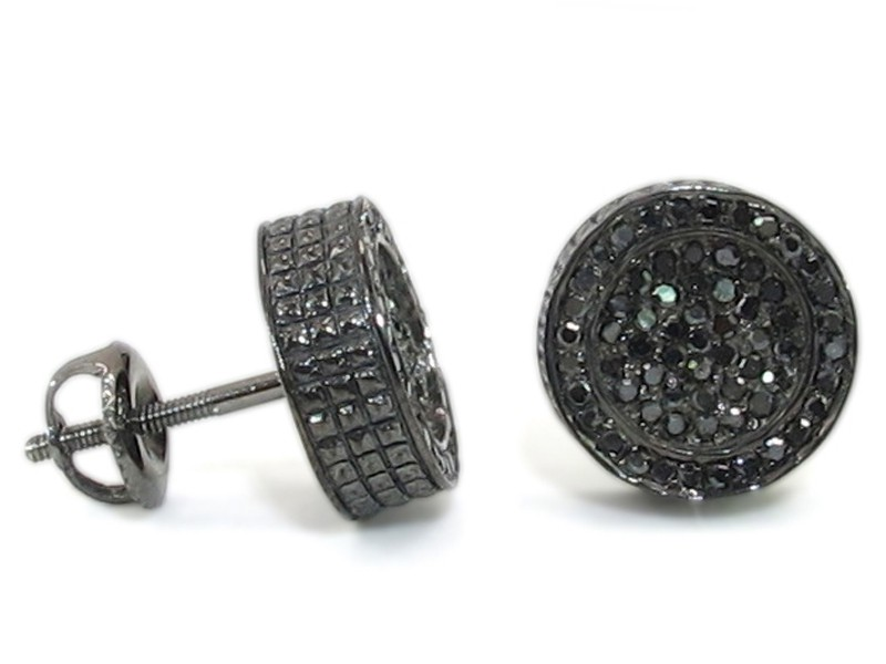 black diamond earrings for guys