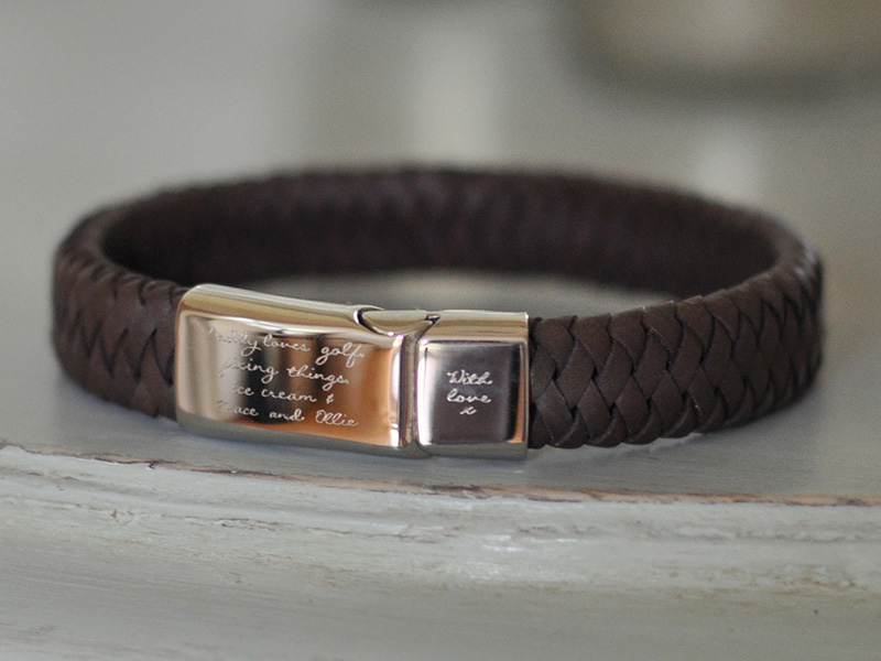 Personalized Men39s Leather Bracelets How To Make Your
