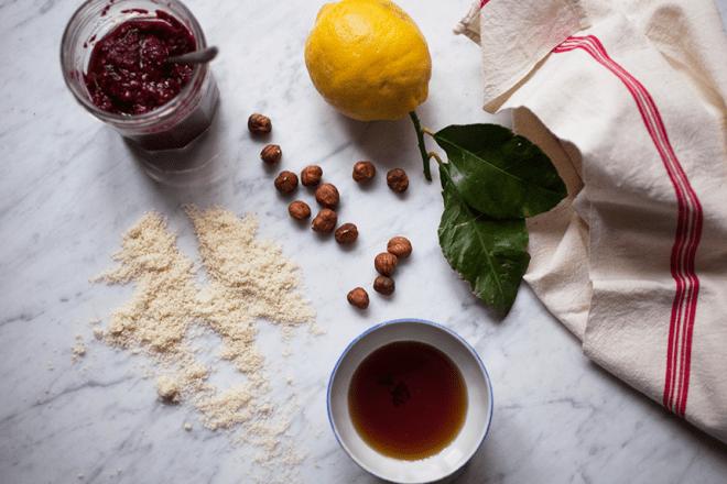 Raspberry-Lemon Thumbprint Cookies