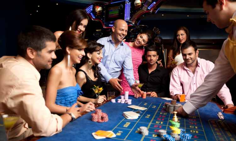 group of people playing craps